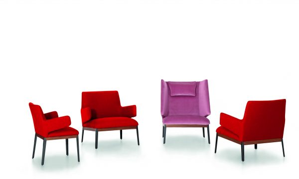 Hug lounge chair & Armchair by Arflex