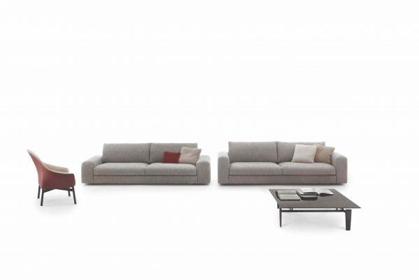 Arflex low land Sectional fabric sofa